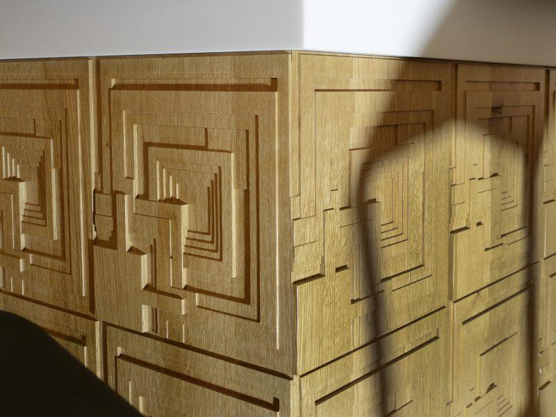 Verlangens van opdrachtgever verwerkt in meubel